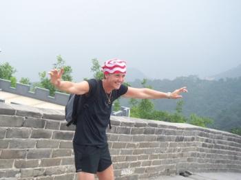Pia at the Great Wall!