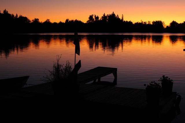 lake sunset 9-08